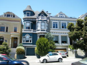 The cool Victorian houes are all unique in San Francisco